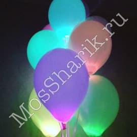 Светящиеся воздушные шары многоцветные