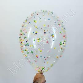 """Воздушный шарик с конфетти """"горошек"""""""