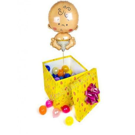 """Коробка-сюрприз с шариками """"Малыш"""""""