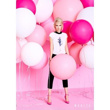 Шары для фотосессии бело-розовые