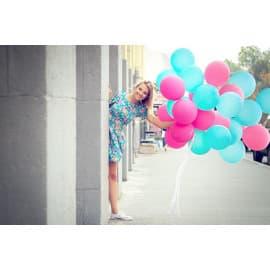 Воздушные шары для фотосессии (бирюзовые, фуксия)
