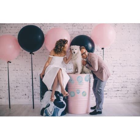 Большие шары для фотосессии (розовые, черные)