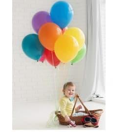 Облако шаров для детской фотосессии (разноцветные)
