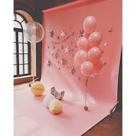 Воздушные шары для фотосессии (розовые и с конфетти)