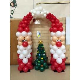Композиция из воздушных шариков на новый год