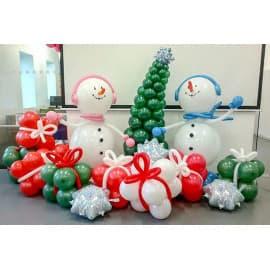 Оформление шариками на новый год
