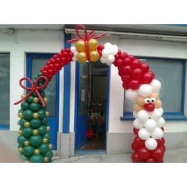 Арка из воздушных шаров на новый год