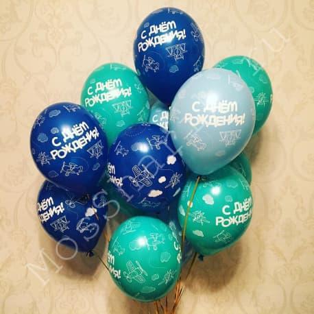 """Воздушные шарики самолеты """"С Днем Рождения"""""""