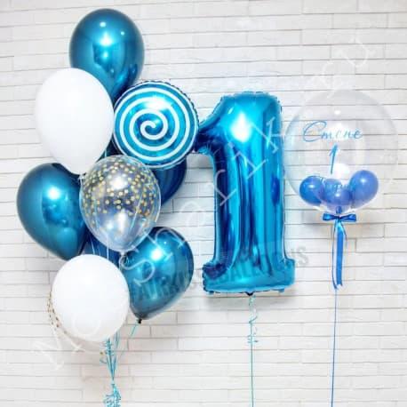 Шары на день рождения мальчику 1 год