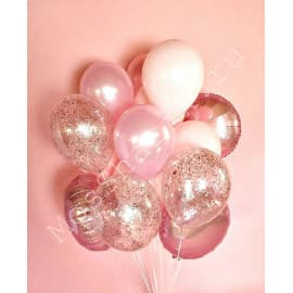 Фонтан из розовых шаров