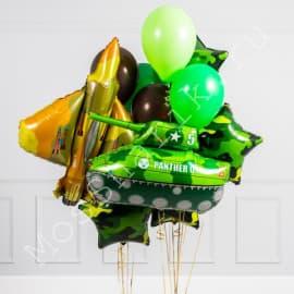 Воздушные шарики на 23 февраля (с танком и самолетом)