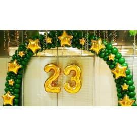 """Оформление шарами на 23 февраля (гирлянда + """"23"""")"""
