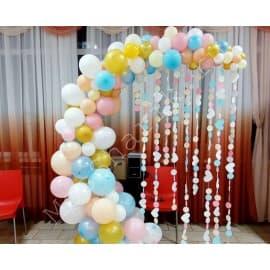 Фотозона из шаров (арка разнокалиберная)