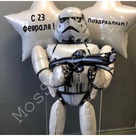 """Композиция из шаров """"Звездные войны"""" Штурмовик"""