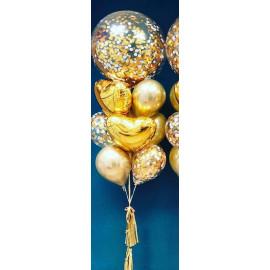 Фонтаны из шаров в золотом стиле