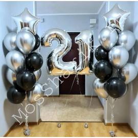Воздушные шары на 21 год