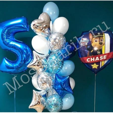 Комплект шариков на день рождения. Щенячий патруль