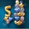 Композиция из шариков: фонтан на 5 лет