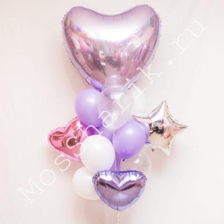 Воздушные шары с сердечками