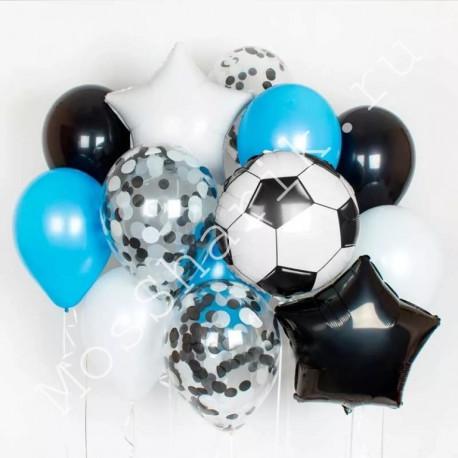 Букет воздушных шаров с футбольным мячиком