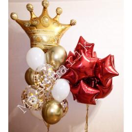 Композиция из шаров с короной