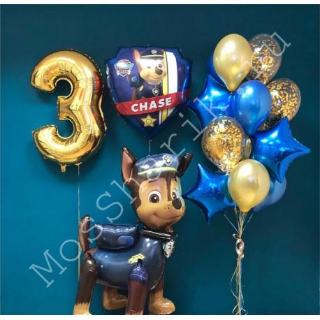 """Воздушные шары """"Щенячий патруль"""" на три года"""