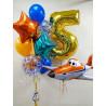 Воздушный шар самолет и фонтан на 5 лет