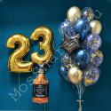 Воздушные шары мужчине на 23 года