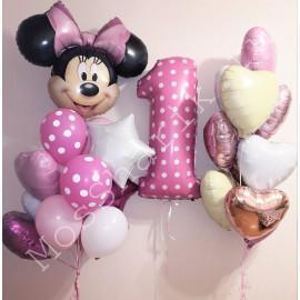 Воздушные шары с Минни Маус на годик