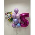 Воздушные шары с единорогом на 5 лет
