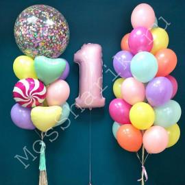 Воздушные шары на годик девочке