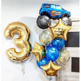 Воздушные шарики для мальчика с джипом на три года