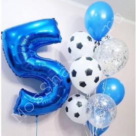 Шарики воздушные футбольные мячи на 5 лет