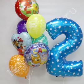 Воздушные шары мульт на два года