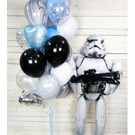 """Воздушные шары """"Звездные войны"""" (штурмовик и фонтан)"""