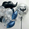 Воздушный шар усы в композиции шариков