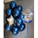 Шары для мужчины на день рождения (синие хром)