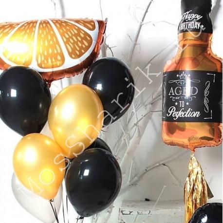 Гелевые шары мужчине (виски, апельсин и фонтан)