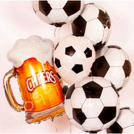 Воздушные шары пиво и мячи