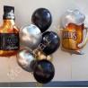 Фольгированные шары пиво, виски и фонтан