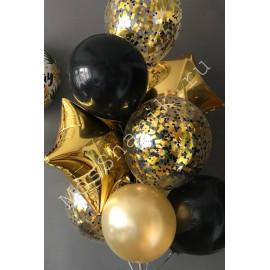 Черно золотые шары
