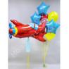 Воздушный шар самолет и фонтан на пять лет