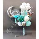 Композиции из шаров на выписку (с облачком и месяцем)