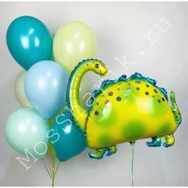 Набор шаров с динозавром Бронтозавр