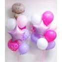 Фонтаны из шаров на выписку (розовые)