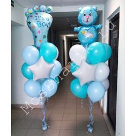 Гелевые шары на выписку (голубые)
