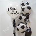 Композиция из шаров: фонтан и большой шар с надписью