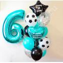 Воздушные шары на 6 лет с футбольными мячами