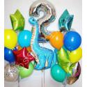 Шар динозавр диплодок в композиции на 2 года