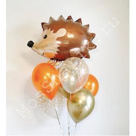 Букет с фольгированным шаром ежиком